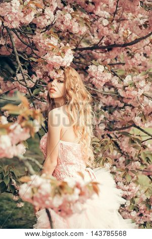 Glamour Girl In Pink Blossom