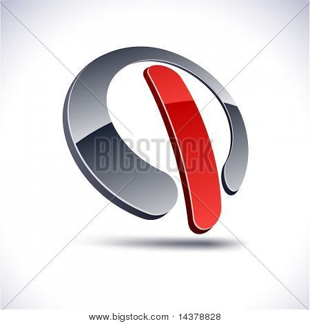 Abstract modern 3d switch logo. Vector.