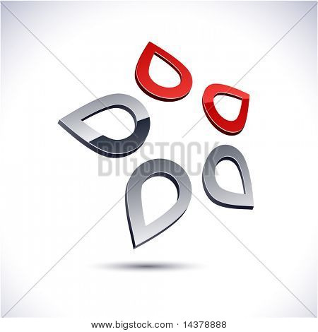 Abstract modern 3d star logo. Vector.