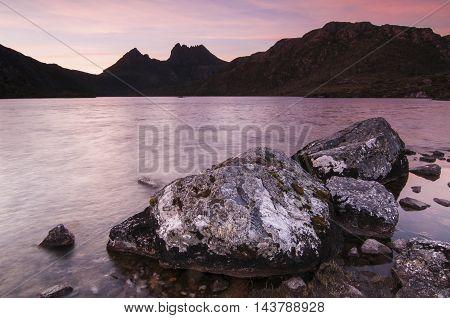Sunset at Dove Lake, Cradle Mountain, Tasmania.