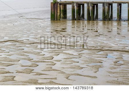 Mud Appear At Low Tide
