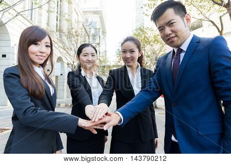 Business team working toegther