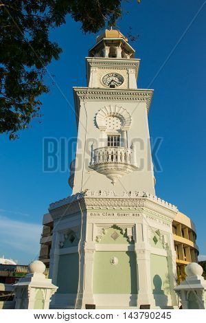 Photo of the Jubilee Clock Tower in Malaysia. Time concept