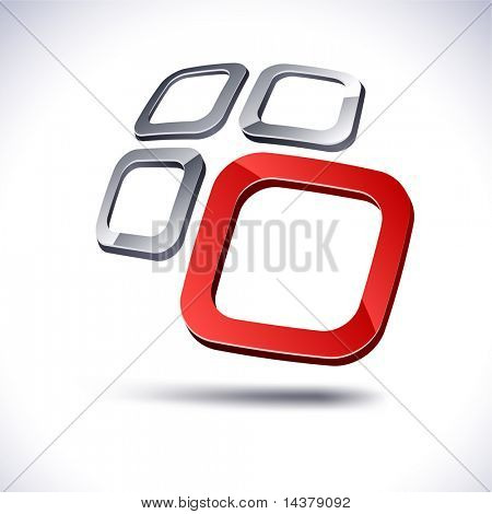 Abstract modern 3d  icon. Vector.
