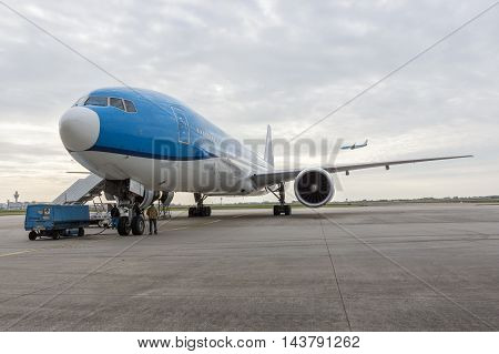 Maintenance Of An Airplane At The Airport