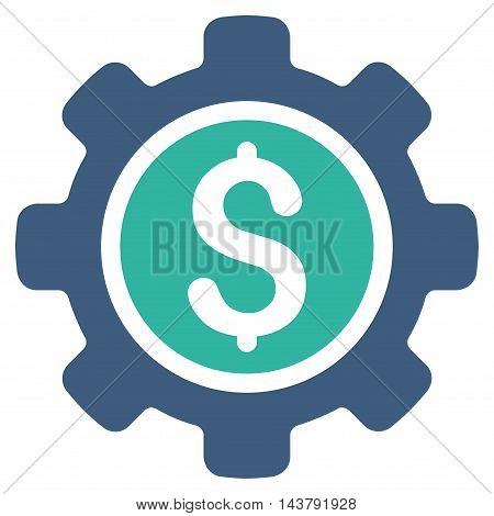 Financial Tools icon. Vector style is bicolor flat iconic symbol with rounded angles, cobalt and cyan colors, white background.