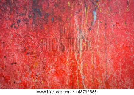 Abstract blur red oil brush strokes