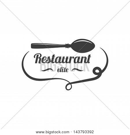 Restaurant Lablel. Food Service Logo Elements Isolated On White Background. Vector Illustration. Logotype Graphic Design Template.