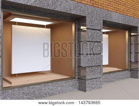 Small Shop In The Old Town. 3D Rendering