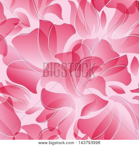Vector illustration Seamless Pattern of pink flower petals background.