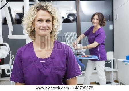 Confident Assistants Smiling In Dentistry