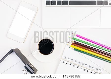 White Smartphone And Supplies