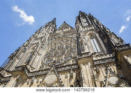Exterior Detail From St. Vitus Cathedral, Prague, Czech Republic