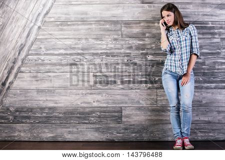 Young Woman Talking On Phone