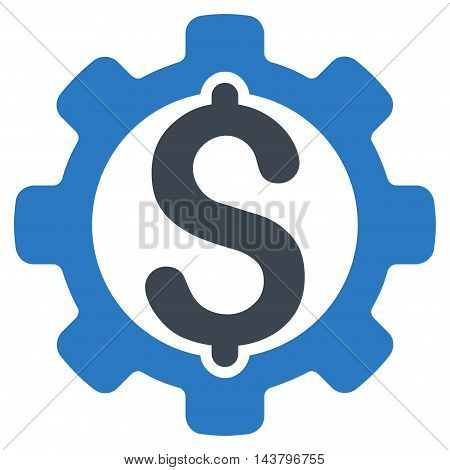 Payment Options icon. Vector style is bicolor flat iconic symbol with rounded angles, smooth blue colors, white background.
