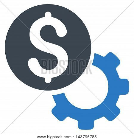 Payment Tools icon. Vector style is bicolor flat iconic symbol with rounded angles, smooth blue colors, white background.