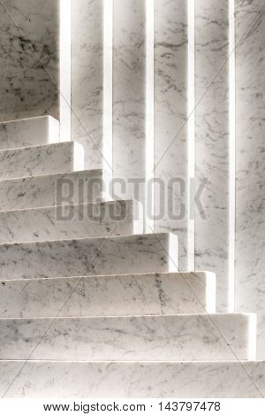 White Marble Monument Architectural Background