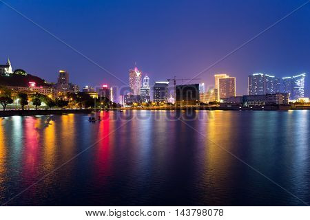 Macao cityscape at night