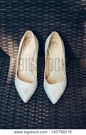 The Stylish Pair Of Shoes For The Bride