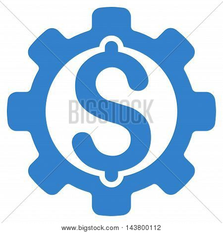 Payment Options icon. Vector style is flat iconic symbol with rounded angles, cobalt color, white background.
