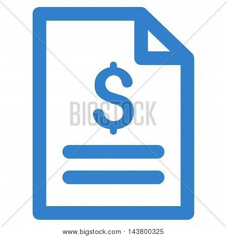 Price List icon. Vector style is flat iconic symbol with rounded angles, cobalt color, white background.