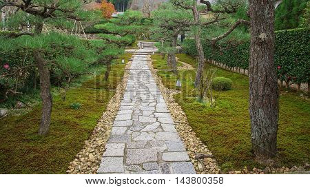 Serenity Footpath Of Enkoji Temple, Kyoto