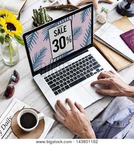 Sale Discount Promotion Marketing Graphic Concept