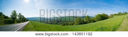 Agricultural field panorama