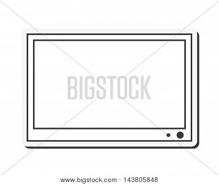 flat design flat screen tv icon vector illustration