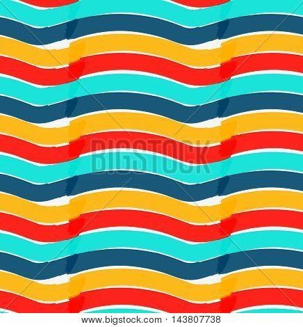 Marker Drawn Horizontal Wavy Stripes