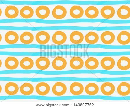 Marker Drawn Orange Circles And Blue Lines