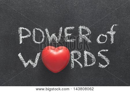 Power Of Words Heart
