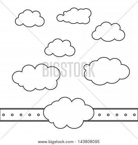 flat design cloud shape pattern icon vector illustration