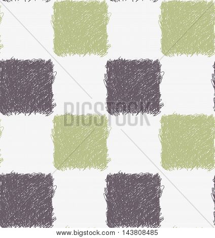 Pencil Hatched Gray And Green Squares