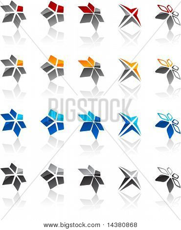 Vector illustration of geometric symbols.