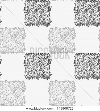 Pencil Hatched Gray Squares