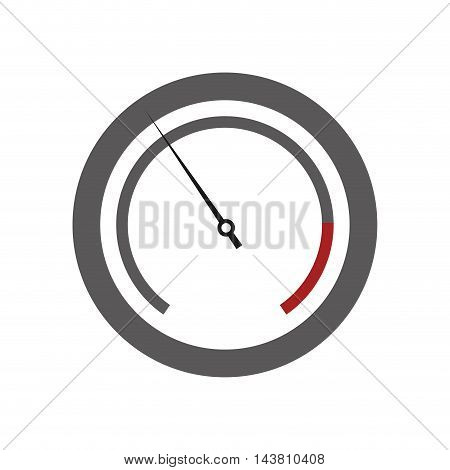 flat design pressure manometer icon vector illustration