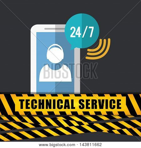 smartphone barrier customer service technical service call center icon set. Colorful and flat design. Vector illustration