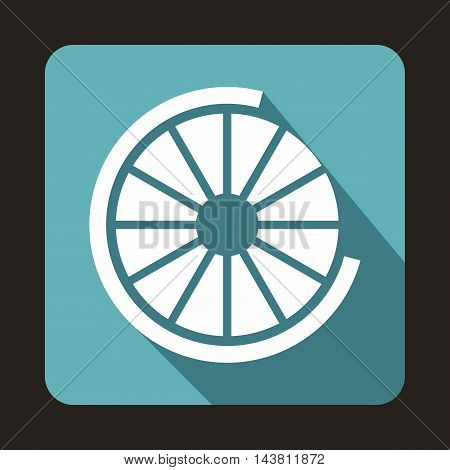 Web preloader icon in flat style on a baby blue background