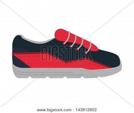 flat design sport sneakers icon vector illustration