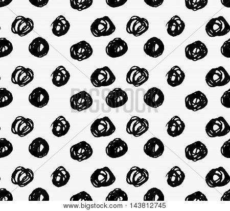 Black Marker Big Scribble Dots