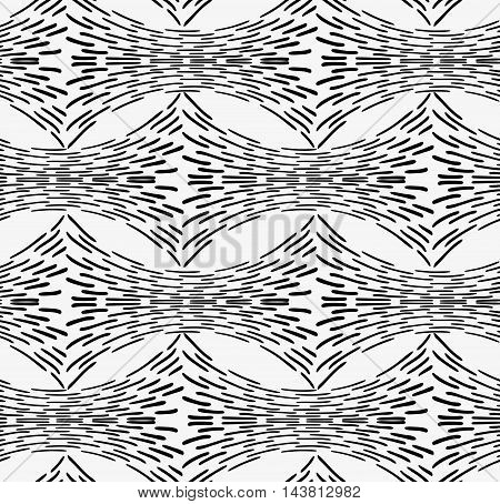 Black Marker Horizontal Dashed Shapes