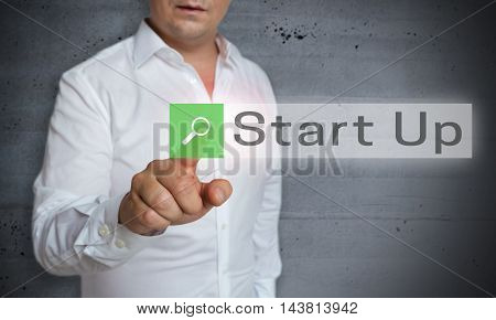 Start Up Browser Is Operated By Man Concept