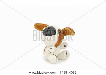 Old toy Dog isolated on a white background