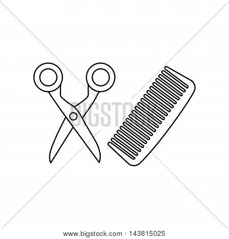 Hairdresser icon of vector illustration for web and mobile design