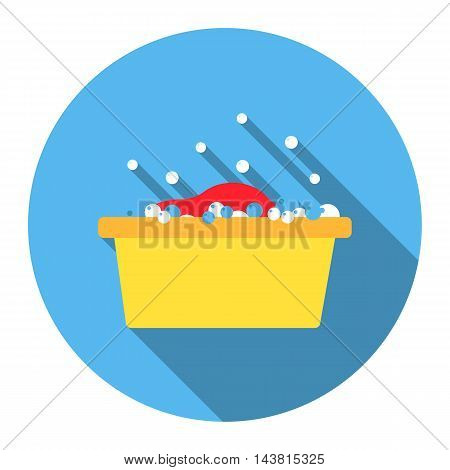 Bowl flat icon. Illustration for web and mobile.