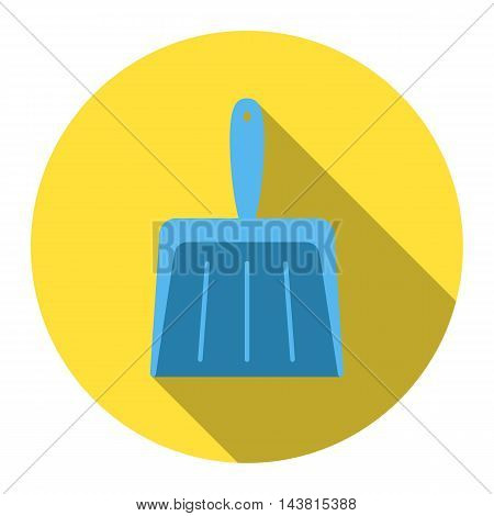 Dustpan flat icon. Illustration for web and mobile.