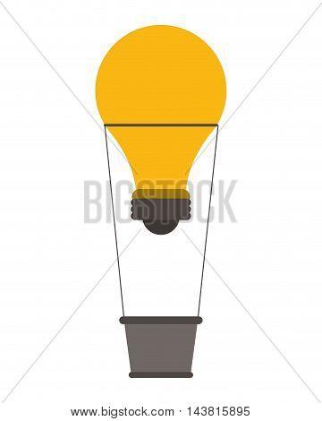 light bulb hot air balloon great idea creative icon. Flat and Isolated design. Vector illustration