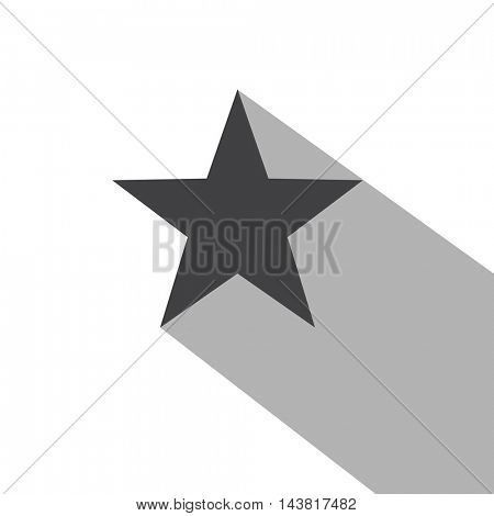 Star icon with a long shadow
