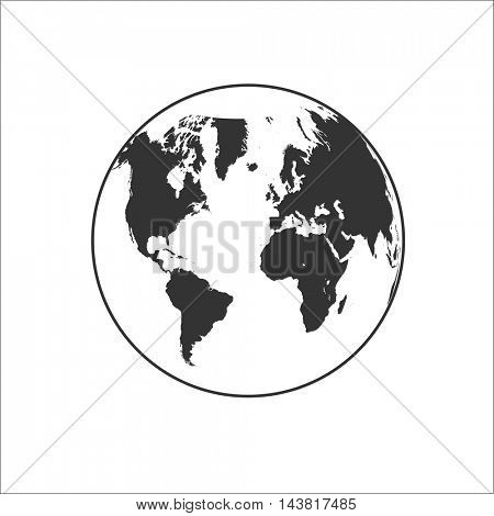 Globe Icon Illustration on white